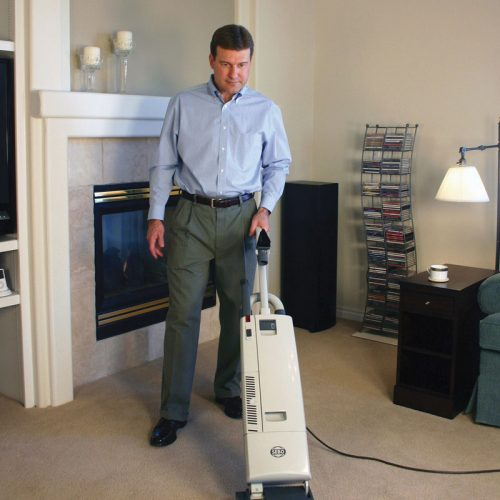 Carpet vacuuming in accommodation industry